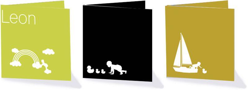 Silhouetten geboortekaartjes